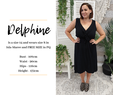 Delphine Sizes | Sizing is Shit Size Chart