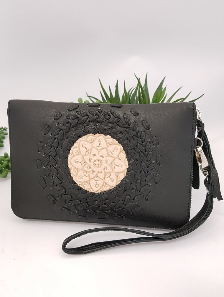 Mandala Wallet - Black