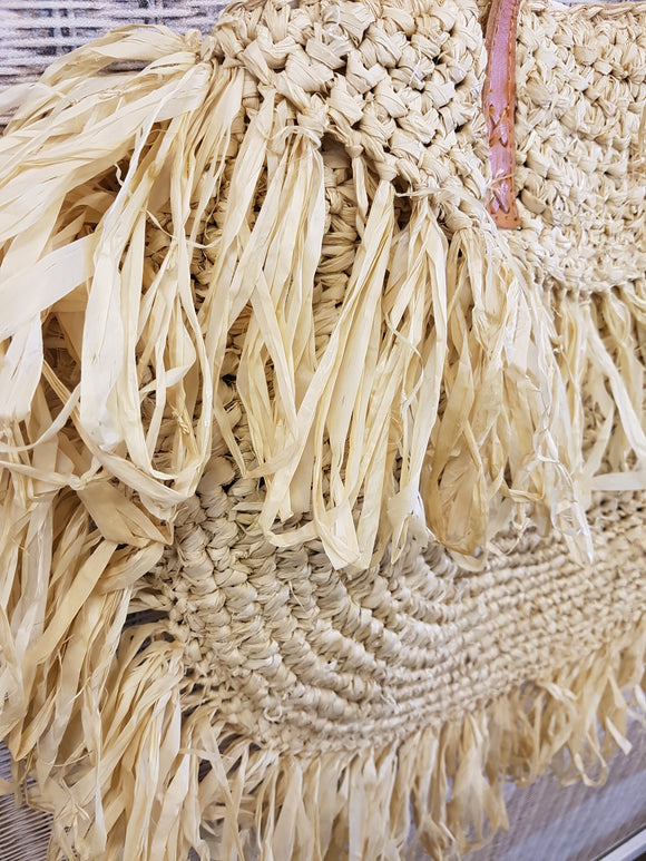Straw Bag - Natural - Isla-Maree | Plus Size Clothing NZ