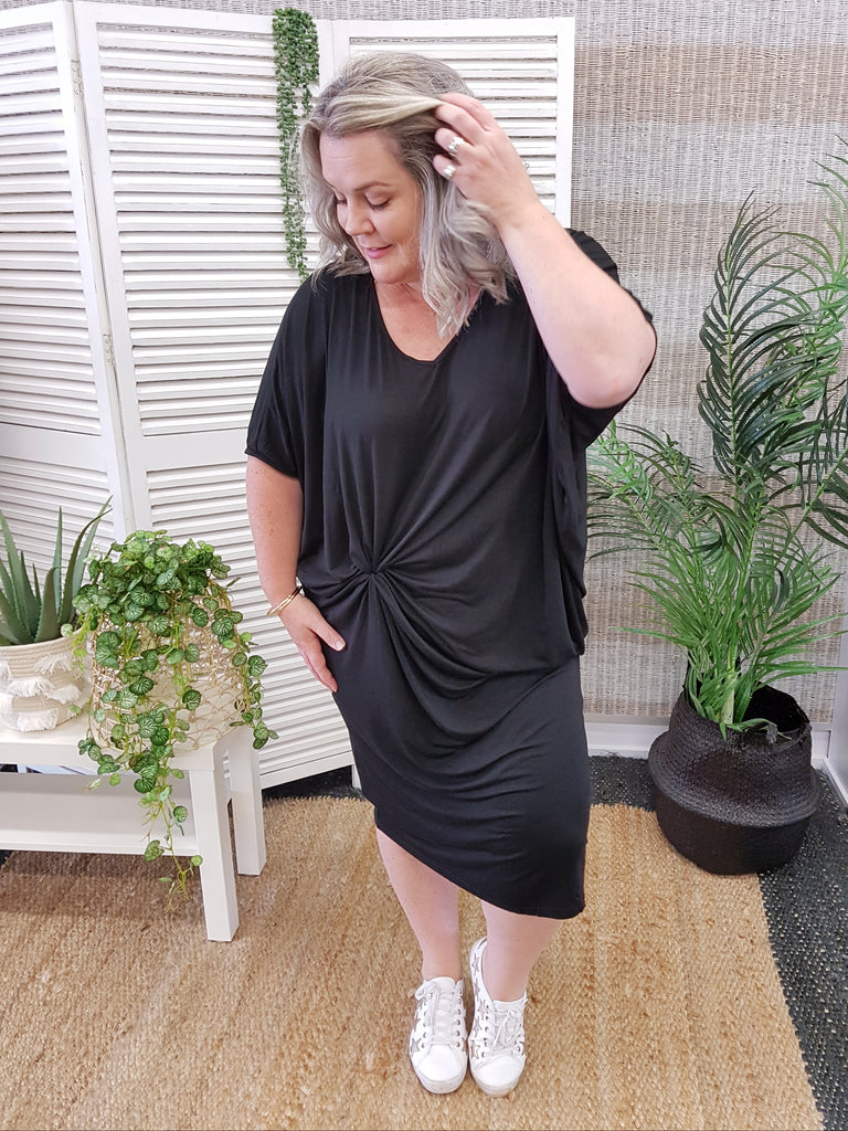 PQ Collection Miracle Maxi Dress - Black - Isla-Maree | Plus Size Clothing NZ