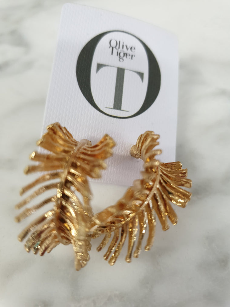 Antonella Earrings- Gold - Isla-Maree | Plus Size Clothing NZ
