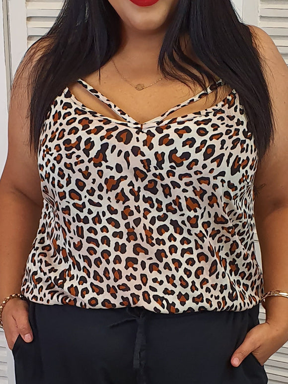 Isla Maree Chloe Cami - Cheetah - Isla-Maree | Plus Size Clothing NZ