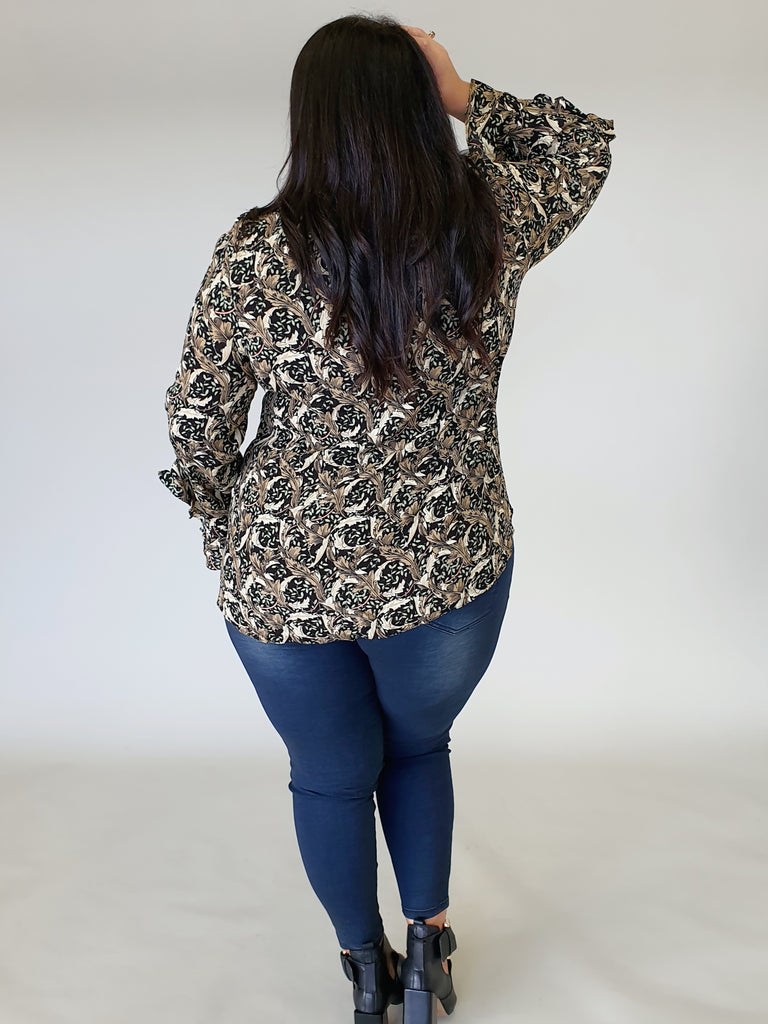 Victoria Blouse - Baroque - Isla-Maree | Plus Size Clothing NZ