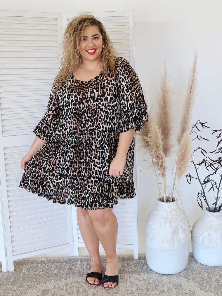 Evie Dress - Jungle - Isla-Maree | Plus Size Clothing NZ