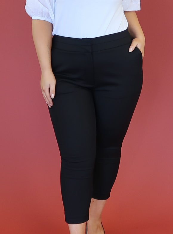Walk this way cigarette pant - black