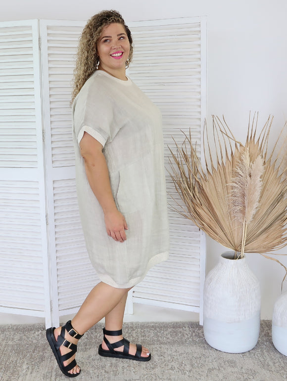 Mykonos Cocoon Dress - Natural