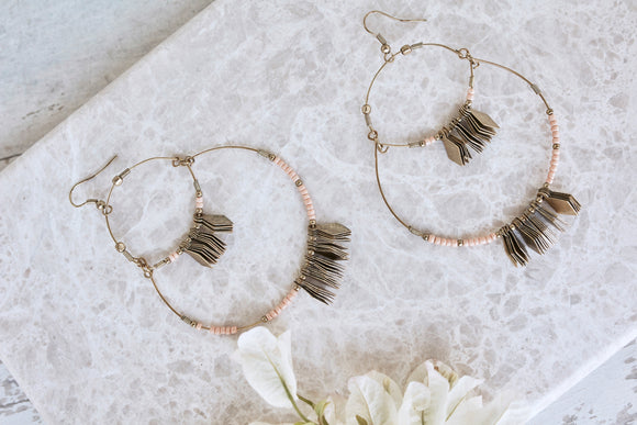 Masai Metal Earrings - Blush - Isla-Maree | Plus Size Clothing NZ