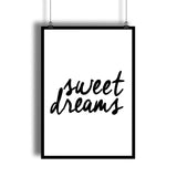 """Sweet Dreams"" Good Night Lettering Art Print - DifferenType"
