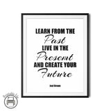"Joel Brown ""Past, Present and Future"" Motivational Quote Printable"