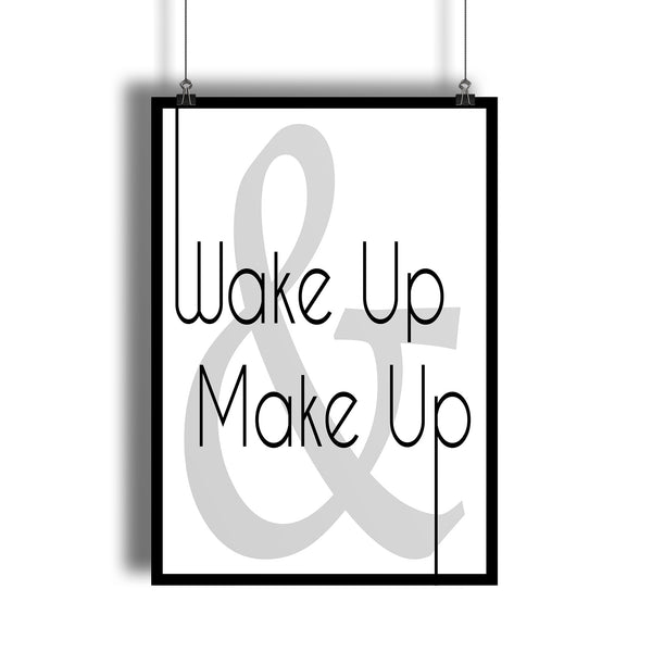 """Wake Up & Make Up"" Romantic Bedroom Art Print - DifferenType"