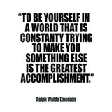 "Ralph Waldo Emerson ""Be Yourself"" Inspirational Quote Art Print"