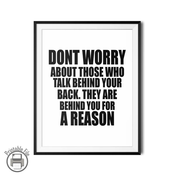 Don't Worry Inspirational Quote Printable - DifferenType