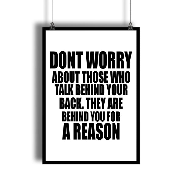 Don't Worry Inspirational Quote Art Print - DifferenType