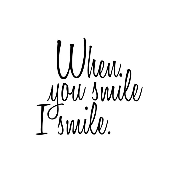 "Justin Bieber ""When You Smile I Smile"" Lyrics Quote Art Print - DifferenType"