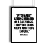 "Chris Dixon ""Ambitious Goals"" Motivational Quote Printable"