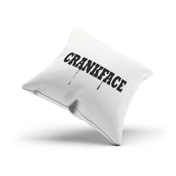 """Crankface"" Decorative Cushion Cover Funny Gift Idea"