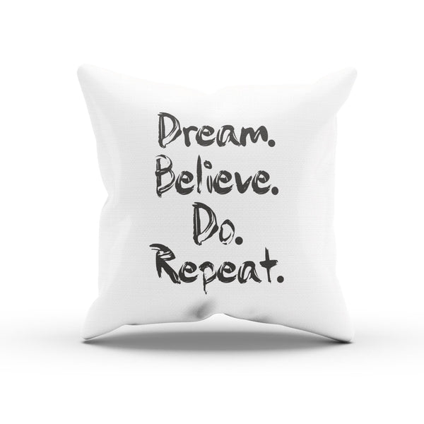 """Dream. Believe. Do Repeat"" Finger Paint Pillowcase For Entrepreneurs"