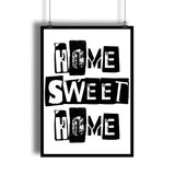 """Home Sweet Home"" Livingroom Wall Art Decor"