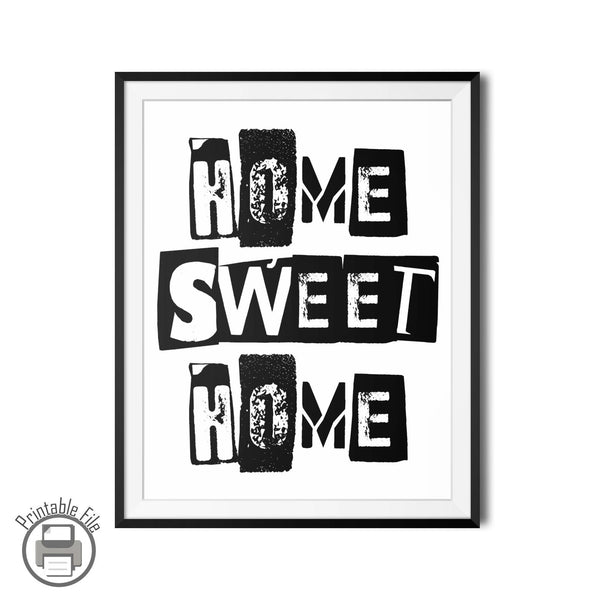 """Home Sweet Home"" Mötley Crüe Printable Wall Art Lyrics"