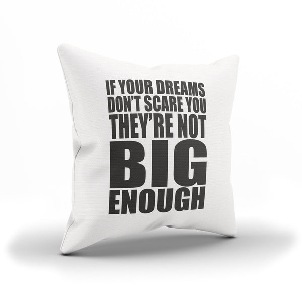 """Big Dreams"" Motivational Quote Throw Pillow Case For Dreamers"