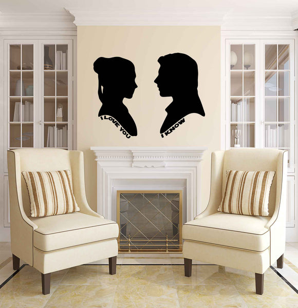 I Love You I know Wall Decal Romantic Gift For Star War Lovers