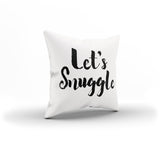 """Let's Snuggle"" Romantic Pillow Cover By Raz Naim - DifferenType"