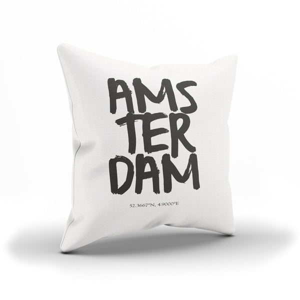 """Amsterdam, Netherlands"" Cushion Cover For Globetrotters"