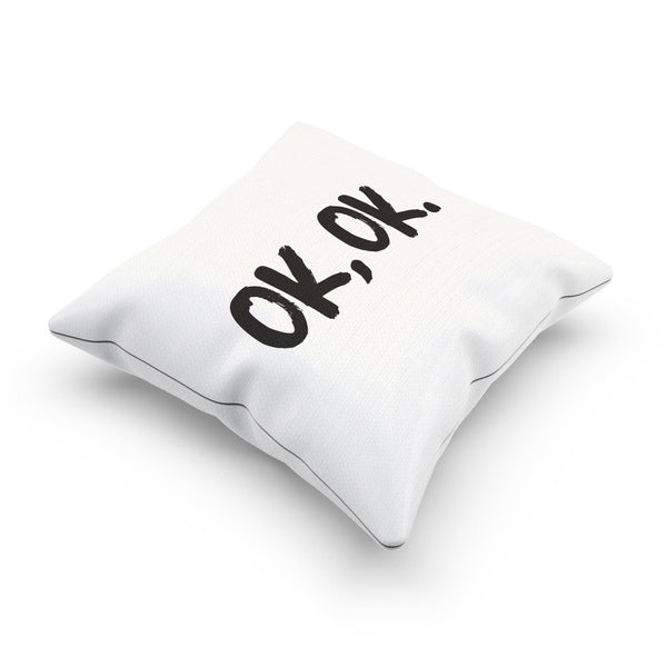 """OK OK"" Minimalist Decorative Pillow Case For Bedroom"