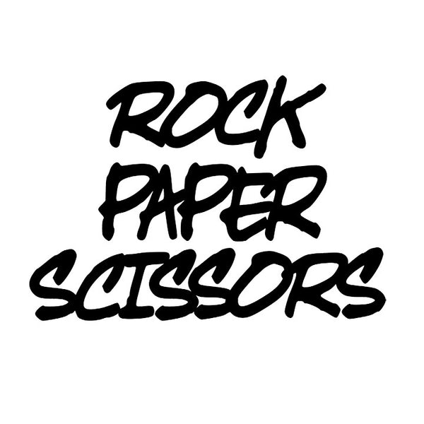 """Rock Paper Scissors"" Wall Art Print Decor For Child's Playroom"