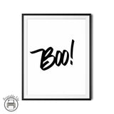 """BOO!""  Spooky Printable Poster Halloween Decor Idea"