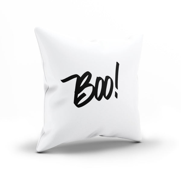 """BOO!"" Scary Decorative Throw Pillow Cover For Halloween"