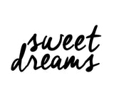 """Sweet Dreams"" Good Night Lettering Art Print"