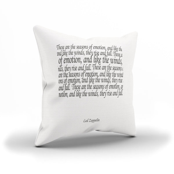 """The Rain Song"" Led Zeppelin Song Lyrics Throw Pillow Cover"