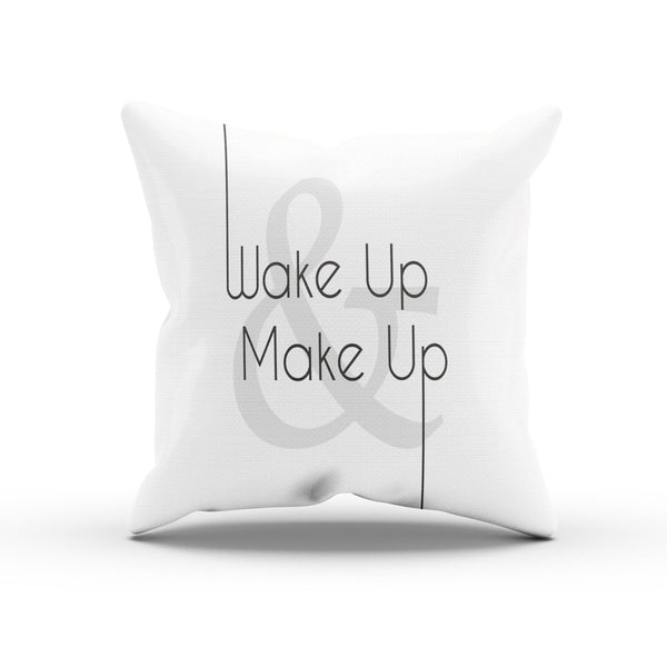 """Wake Up And Make Up"" Romantic Cushion Cover For Lovers"