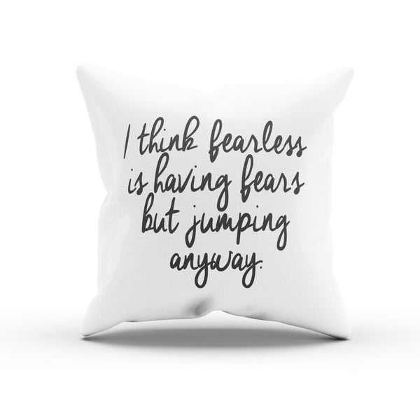 """Being Fearless"" Taylor Swift Song Quote Cushion Cover For Swifties"