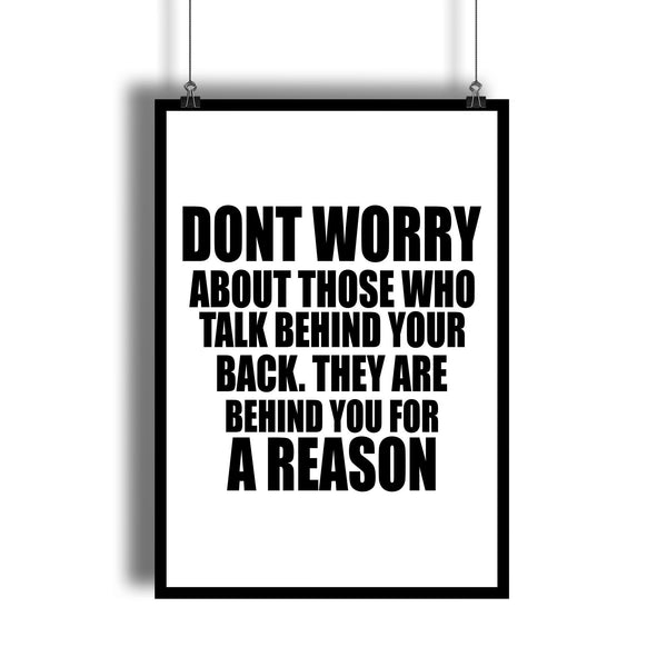 """Don't Worry"" Motivational Quote Wall Art For Entrepreneurs"