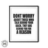 """Don't Worry"" Inspirational Quote Printable Poster"