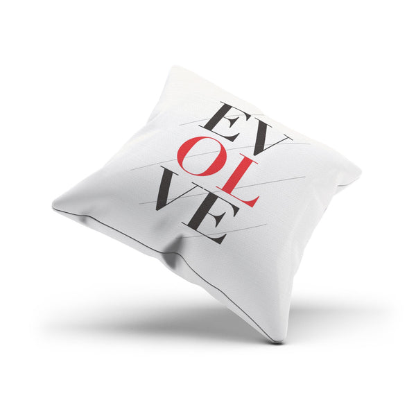 "Black and Red ""Evolve"" Artistic Modern Pillow Cover"
