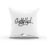 """Giddy Up!"" Phrase Calligraphy Couch Pillow Cover"