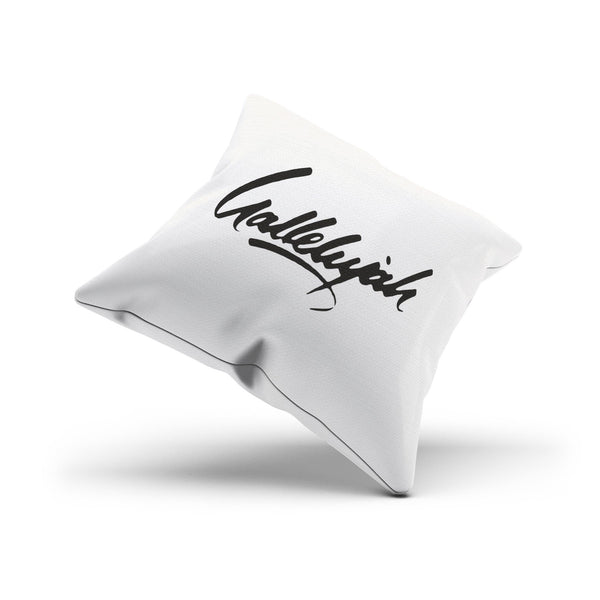 """Hallelujah"" Song Title B&W Chair Cushion Cover"