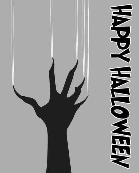 """Happy Halloween"" Monster Scratch Scary Downloadable Design"