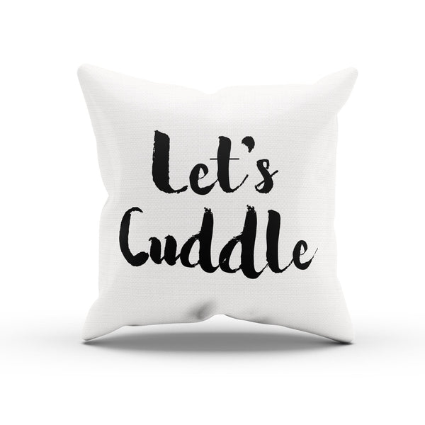 """Let's Cuddle"" Romantic Pillow Cover By Raz Naim - DifferenType"