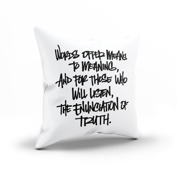 "V For Vendetta Movie Quote ""Enunciating Truth"" Pillow Case"