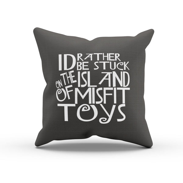 """Misfit Toys"" Typography Cushion Cover For Bedroom"