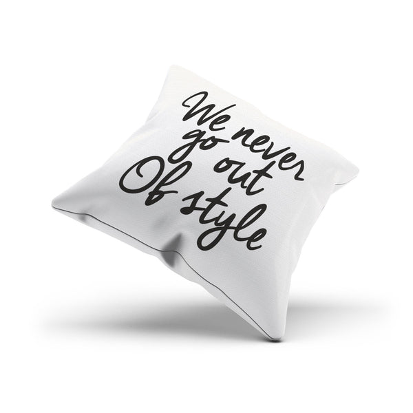 "Taylor Swift's ""Out of Style"" Song Lyrics Throw Pillow Cover"