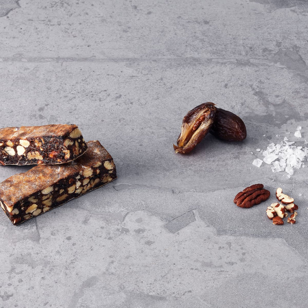 Ingredients in a cycling energy bar