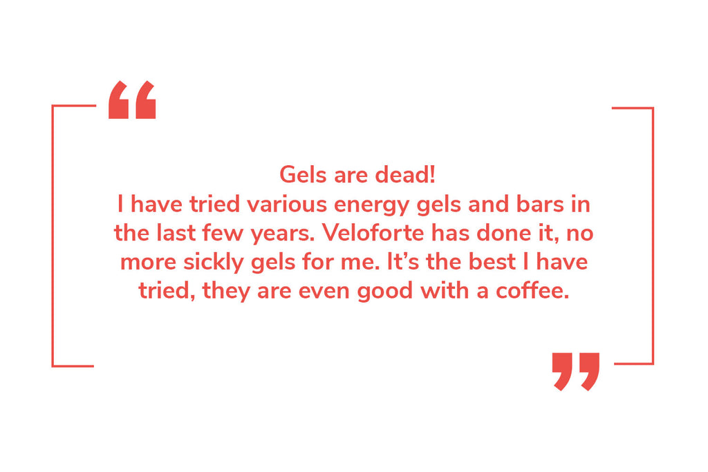 Veloforte cycling energy bars and gels review
