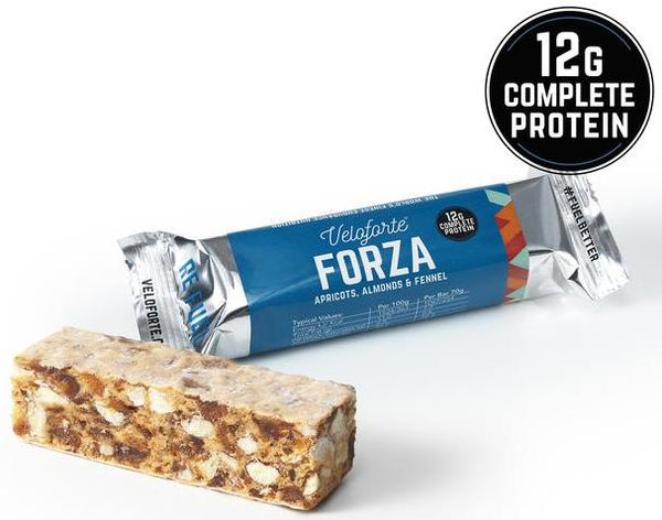 close-up of Veloforte Forza protein bar