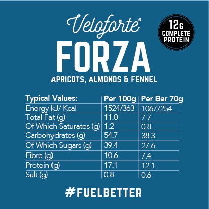 Veloforte | Forza | Protein Bar | Natural Energy Bar | Recovery | Nutritional Information