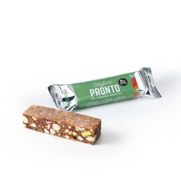 Veloforte Pronto | Gluten free vegan energy bar | Power of natural caffeine